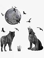 Tiere Mode Landschaft Wand-Sticker Flugzeug-Wand Sticker Dekorative Wand Sticker 3D Stoff Haus Dekoration Wandtattoo