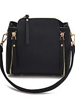 Women Bags All Seasons PU Shoulder Bag Rivet for Casual Green Black Red Blushing Pink