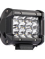 10PCS 36W 3600LM 6000K 3-Rows LED Work Light Cool White Spot Offroad Driving Light for Car/Boat/Headlight IP68 9-32V DC