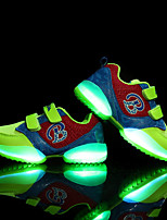 Boys' Athletic Shoes Light Up Shoes Tulle Spring Fall Athletic Casual Outdoor Magic Tape Flat Heel Green Black Flat