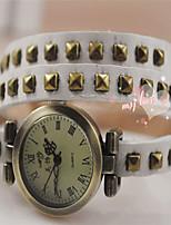 Per donna Orologio alla moda Orologio braccialetto Quarzo PU Banda Nero Bianco Blu Rosso Arancione Verde