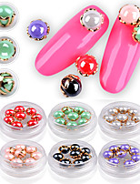 8 Manucure Dé oration strass Perles Maquillage cosmétique Nail Art Design