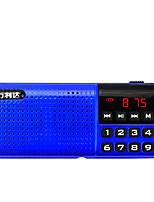 T18 Rádio portátil Player MP3 Cartão TFWorld ReceiverVermelho Azul