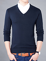 Men's Plus Size Casual Slim Shirt Collar Fake Two Piece 100% Cotton Pullover
