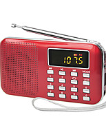 Y-896 Radio portable Lecteur MP3 Carte TFWorld ReceiverOr Blanc Noir Rouge Bleu
