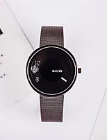 Men's Wrist watch Chinese Quartz Alloy Band Casual Black Silver