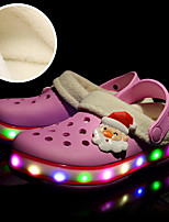 Girls' Clogs & Mules Light Up Shoes Winter EVA Casual Flat Heel Green Blushing Pink Flat