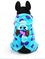 Dog Costume Dog Clothes Casual/Daily Cosplay Sports Halloween Christmas Cartoon Blue