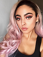 Uniwigs New Arrival Heat Friendly Synthetic Fiber Wig Lace Front Wig Dusty Rose Wig Wavy Wig for Fashion Women