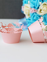 50pcs/lot Eight Lovely Dinosaurs Style Laser Cut Cupcake Wrappers Birthday Wedding Party Baby Shower Supplies.