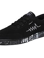 Da uomo Sneakers Comoda Primavera Autunno PU (Poliuretano) Casual Lacci Piatto Nero Nero e Oro Bianco/nero Piatto