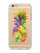 Étui pour iphone 7 plus 7 couverture transparent sac à dos en carton fruit ananas doux tpu pour Apple iphone 6s plus 6 plus 6s 6 se 5s 5c