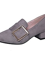 Women's Heels Light Soles Spring Fall PU Casual Dress Block Heel Army Green Gray Black 2in-2 3/4in