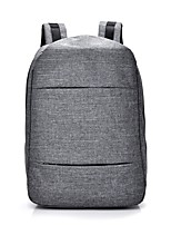 Unisex Bags All Seasons Canvas Backpack for Casual Sports Fitness Outdoor Office & Career Black Gray