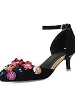Damen High Heels D'Orsay und Zweiteiler Pumps Schuhe für das Blumenmädchen Samt Glanz Frühling Herbst Hochzeit Kleid Party & Festivität