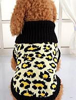 Cane Maglioni Abbigliamento per cani Casual Leopardo Leopardo