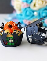 50pcs/lot Halloween Decorations Cupcake Wrappers  Supplies Halloween Party Accessories.