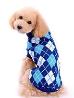 Cane Maglioni Abbigliamento per cani Da serata Casual Sportivo Geometrico Blu scuro Rosa