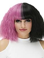 Donna Parrucche sintetiche Senza tappo Pantaloncini Nero - rosa Parrucca naturale Parrucca di Halloween Parrucca per festa Parrucca di