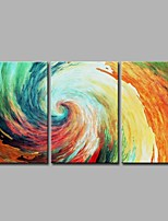 Color Vortex 3 Panels 100% Hand-painted Oil Paintings on Canvas Modern Artwork Wall Art for Room Decoration 20x28inchx3