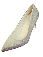 Women's Heels Comfort PU Summer Dress Stiletto Heel Silver Gold 2in-2 3/4in