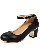 Women's Heels Spring Summer Fall Winter Comfort Novelty PU Leatherette Wedding Office & Career Party & Evening Dress Casual Chunky Heel