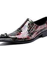 Men's Loafers & Slip-Ons Amir's Novelty Cowhide Patent Leather  Casual Party & Evening Metallic toe
