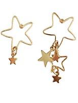 Per donna Orecchini a bottone Di tendenza Personalizzato stile sveglio Mancata corrispondenza bigiotteria Lega A stella Gioielli Per