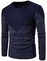 Standard Pullover Da uomo-Per uscire Casual Semplice Monocolore Rotonda Manica lunga Cotone Autunno Medio spessore Media elasticità