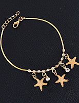 Women's Girls' Anklet/Bracelet Alloy Friendship Fashion Vintage Punk Hip-Hop Handmade Gothic Star Jewelry For Wedding Party New Baby