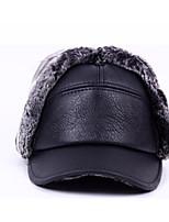 Unissex Chapéu Moderna Simples Poliéster Fibra Sintética Elastano Outono Inverno Boné,Estampado Côr Pura