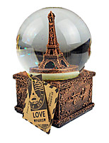 Balls Music Box Toys Round Tower Toughened Glass Iron 1 Pieces Not Specified Birthday Gift