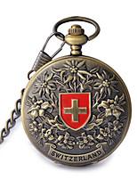 Herrn Damen Taschenuhr Automatikaufzug Wasserdicht Legierung Band Bronze