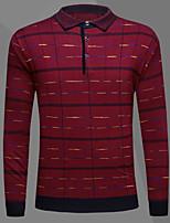 Normal Pullover Homme Décontracté / Quotidien simple,Imprimé Col de Chemise Manches Longues Coton Acrylique Automne Hiver Moyen