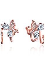 Homme Femme Clips Cœur Mode Adorable Simple Style Classique Elegant Plaqué argent Forme Géométrique Bijoux PourMariage Soirée