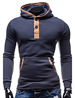 Men's Sports Going out Casual/Daily Street chic Hoodie Color Block Hooded Micro-elastic Cotton Polyester Long Sleeve Fall Winter