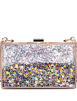 Women Bags All Seasons PC Evening Bag Glitter Chain for Wedding Event/Party Casual Formal Office & Career Blue Silver Blushing Pink