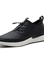 Men's Sneakers Comfort Synthetic Microfiber PU Leatherette Spring Fall Wedding Casual Office & Career Party & Evening Lace-up Flat Heel