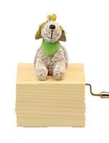 Balls Music Box Toys Dog Resin Wood Lovely Pieces Unisex Birthday Gift