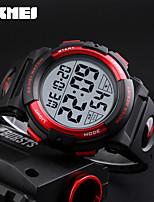 SKMEI Per uomo Orologio sportivo Orologio digitale Giapponese Digitale Calendario Cronografo Resistente all'acqua Nottilucente PU Banda