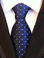 Men's Polyster Neck TieNeckwear Houndstooth All Seasons W0080