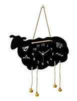 Modern Creative Cute cartoon Wood Mute Wall Clock