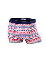 Men's Patchwork Boxers Underwear,Cotton