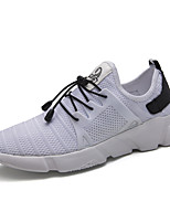 Men's Sneakers Comfort Spring Fall Breathable Mesh Fitness & Cross Training Athletic Casual Outdoor Gore Flat Heel Gray Black White Flat