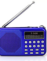 T508 Radio portable Lecteur MP3 Carte TFWorld ReceiverNoir Bleu