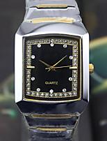 Men's Fashion Watch Quartz Alloy Leather Band Black Silver Brown