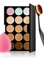 15 Colors Concealer Palette Face Makeup Contour Kit Concealer With Makeup Brushes Sponge Set