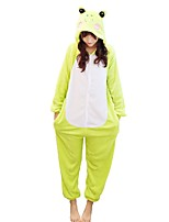 Kigurumi Pajamas Frog Leotard Leotard/Onesie Festival/Holiday Animal Sleepwear Halloween Animal Flannelette Kigurumi For Couples Unisex