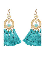 5 Color Cotton Tassel Dangle Earrings Hollow Long Big Earring Drops Bijoux Statement Jewelry for Women Ethnic Jewelry