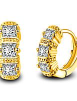 Per uomo Per donna Orecchini Set Cuore Di tendenza Adorabile Stile semplice Classico Elegant Argento placcato Di forma geometrica Gioielli